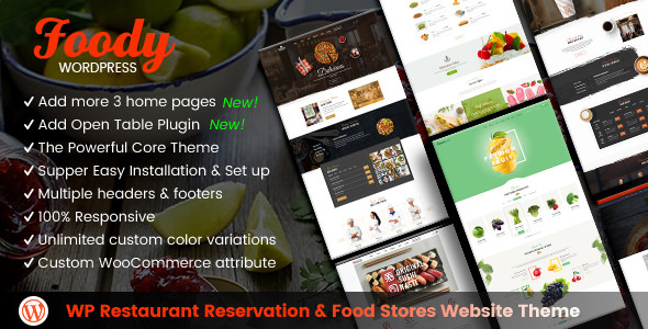 Foody v1.5.0 - Restaurant Reservation & Food Store Theme