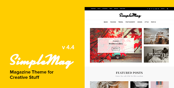 SimpleMag - Magazine Theme for creative stuff v4.1