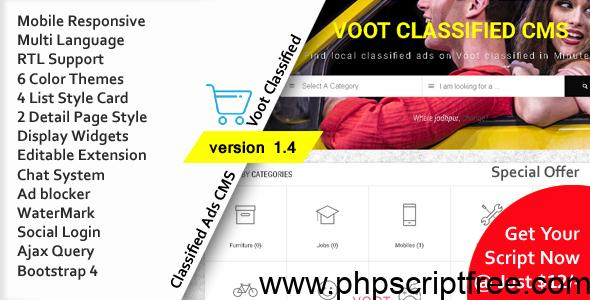 Voot Classified v1.4 – Classified Ads CMS Free Download