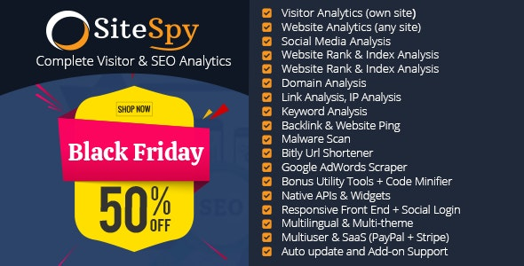 SiteSpy v5.1.3 - The Most Complete Visitor Analytics & SEO Tools