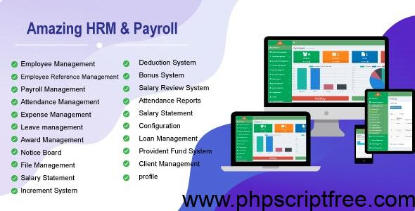 Amazing HRM & Payroll v1.0 Free Download