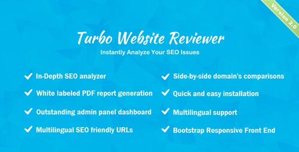 Turbo Website Reviewer v2.1 – In-depth SEO Analysis Tool – nulled PHP Script