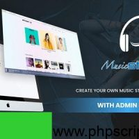 Streamz v1.0 – A music streaming website with admin panel PHP Script