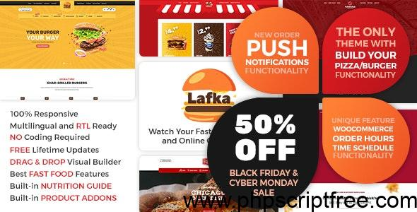 Lafka v1.4.3 – WooCommerce Theme for Burger Pizza Fast Food Delivery & Restaurant – Free Download