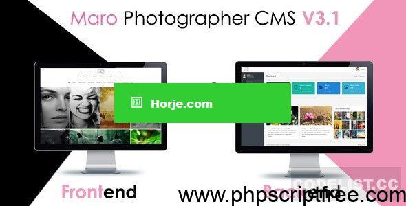 Maro Phpotographer CMS v3.2 PHP Script