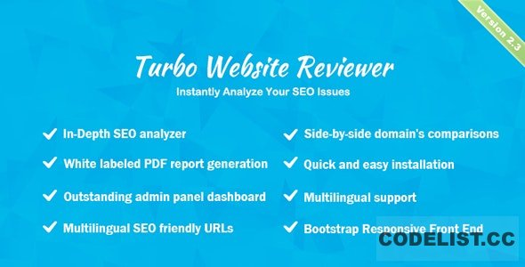 Turbo Website Reviewer v2.3 – In-depth SEO Analysis Tool – nulled PHP Script