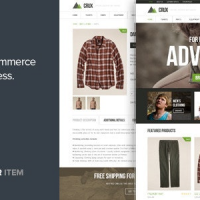 Crux v2.2.0 – Modern and lightweight WooCommerce theme – Free Download