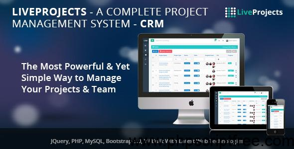 LiveProjects – Complete Project Management CRM – PHP Script Free Download