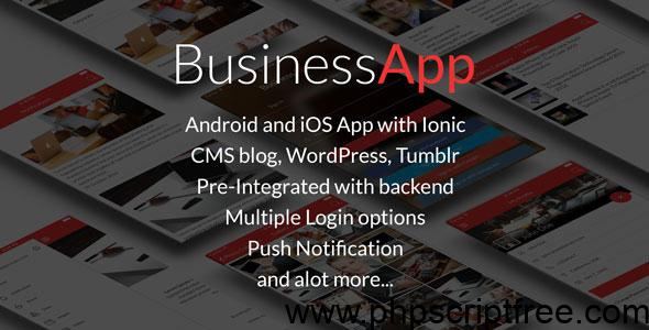 BusinessApp – Ionic iOS/Android Full Application with powerful CMS – Mobile App Free Download