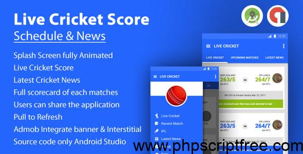 Live Cricket Score & News and Live TV – Mobile App Free Download