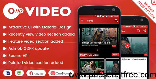 HD Video with Material Design – updated – Mobile App Free Download
