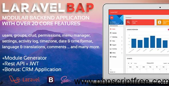 Laravel BAP v1.0.3 – Modular Application Platform and CRM – PHP Script Free Download