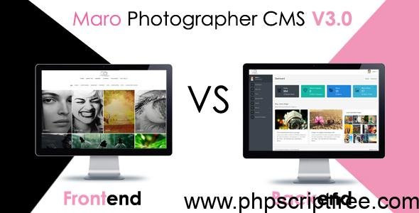 Maro Phpotographer CMS v2.2 – PHP Script Free Download