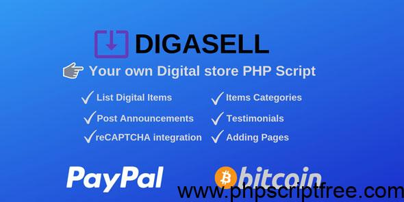 DigaSell – Digital store PHP Script – PHP Script Free Download