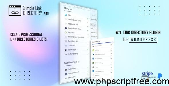 Simple Link Directory Pro v12.5.5 – WordPress Plugin Free Download