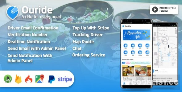 Ouride v2.0.0 – Transportation App With Customer App, Driver App, Merchant App and Admin Panel – Mobile App Free Download