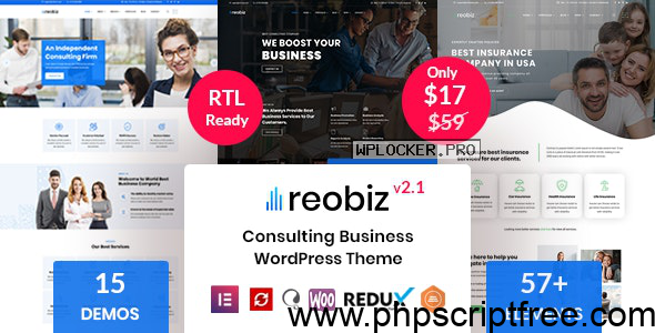 Reobiz v2.1 – Consulting Business WordPress Theme – Free Download