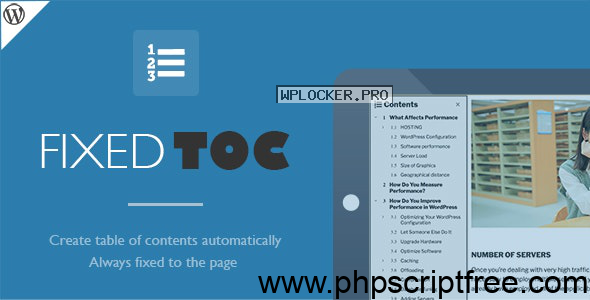 Fixed TOC v3.1.20 – table of contents for WordPress plugin – Free Download
