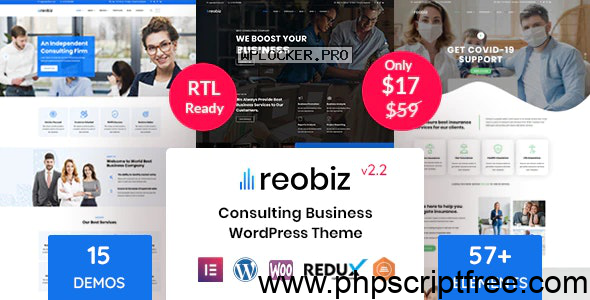 Reobiz v2.2 – Consulting Business WordPress Theme – Free Download