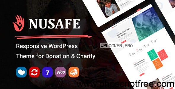 Nusafe v1.4 – Responsive WordPress Theme for Donation & Charity – Free Download