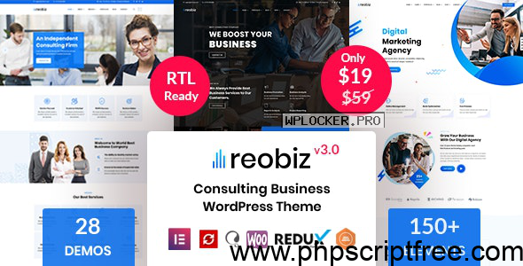 Reobiz v3.0 – Consulting Business WordPress Theme – Free Download