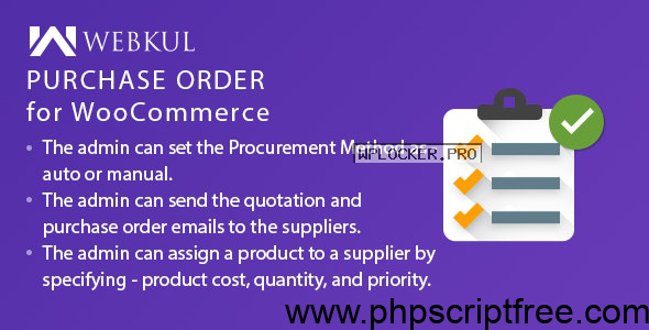 Purchase Order Plugin for WooCommerce v1.0.1 – Free Download