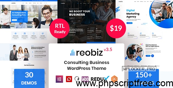 Reobiz v3.5 – Consulting Business WordPress Theme – Free Download